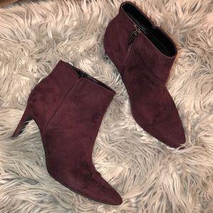 Sam Edelman Maroon Ankle Booties heeled 8
